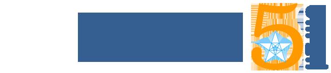 """לוגו מועדון ה- 5, קהילות מורים של 5 יח""""ל"""